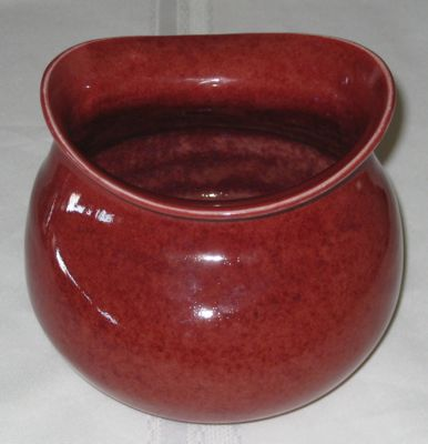 Funky Red Vase view 1