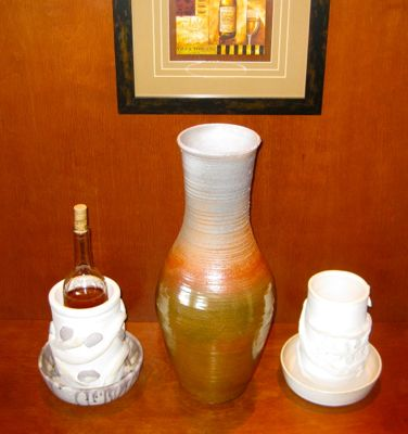 Large Vase with wine coolers